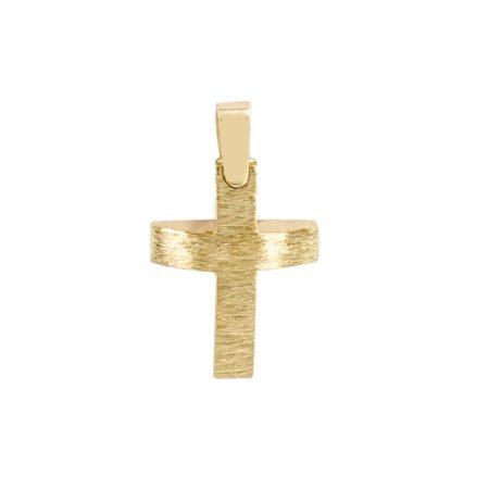 Βαπτιστικός Σταυρός Χρυσός 14 Καρατίων (κωδ: GC608)