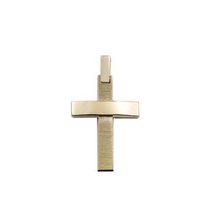 Βαπτιστικός Σταυρός Χρυσός 14 Καρατίων Και Για Τα Δύο Φύλα (κωδ: GC610)