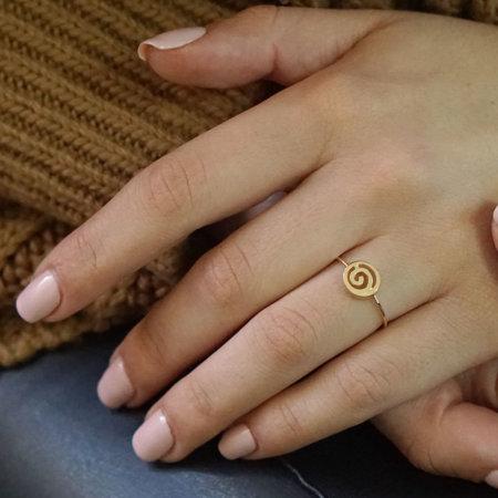 Χρυσό Δαχτυλίδι Γυναικείο 14Κ Με Σχέδιο Σπείρα