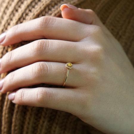 Χρυσό Δαχτυλίδι Ροζέτα 14 Καράτια Με Πέτρες Ζιργκόν