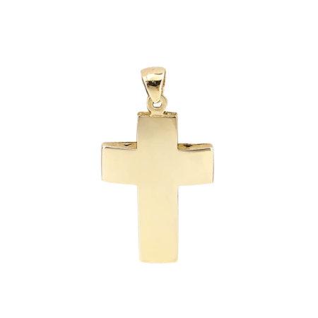 Χρυσός Σταυρός 18 Καράτια Unisex