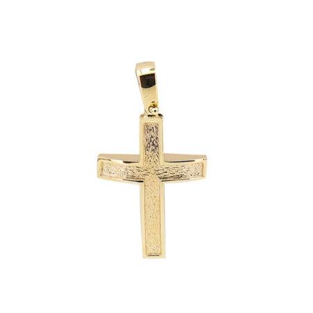 Χρυσός Σταυρός Ανάγλυφος 18Κ