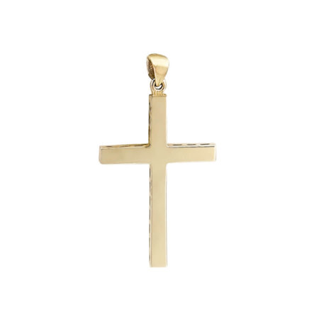 Σταυρός Χρυσός 18 Καράτια Με Κομψό Σχεδιαα
