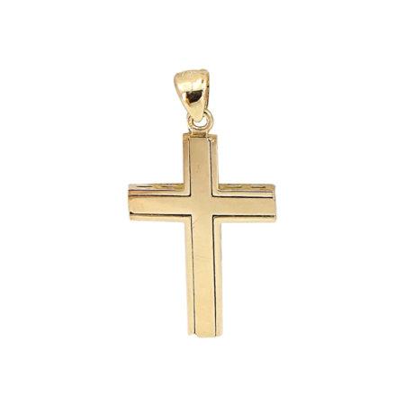 Σταυρός Δύο Όψεων Με Χρυσό 18 Καρατίων