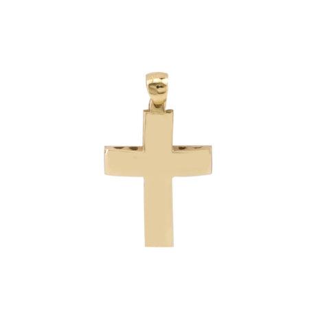 Χρυσός Σταυρός 18Κ Με Λουστρέ Φινίρισμα