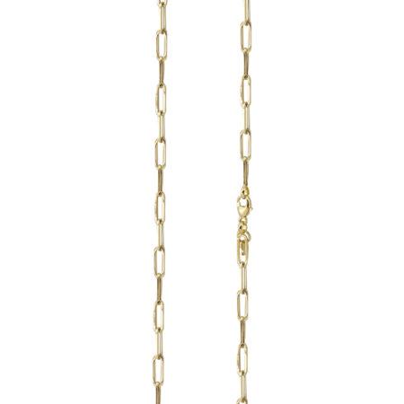 Γυναικεία Χρυσή Αλυσίδα Λαιμού 9Κ Μήκους 45cm Με Ορθογώνιους Κρίκους