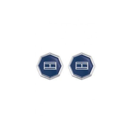 Μανικετόκουμπα Tommy Hilfiger Από Ανοξείδωτο Ατσάλι Σε Μπλε Και Λευκό 2790042