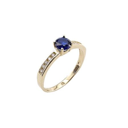 Δαχτυλίδι Με Μπλε Πέτρα Ζιργκόν Σε Χρυσό 14Κ (κωδ: GR412)