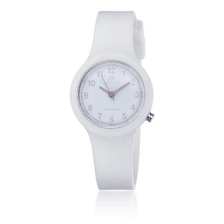 Κοριτσίστικο Ρολόι Luca Barra Με Λευκό Λουράκι Σιλικόνης (κωδ : BW296)