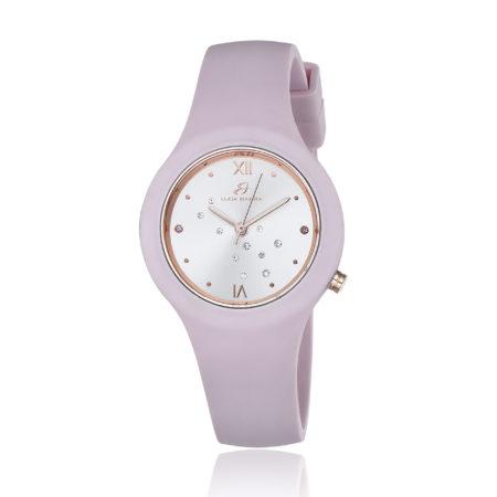 Ρολόι Luca Barra Για Κορίτσι Με Ροζ Λουράκι Σιλικόνης Και Κρύσταλλα - BW302