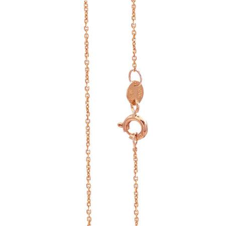 Ροζ Χρυσή Αλυσίδα Λαιμού 9Κ Μήκους 40cm