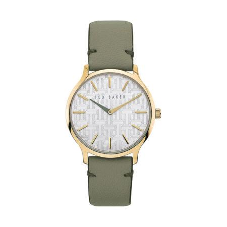 Ted Baker Poppiey Γυναικείο Ρολόι Με Πράσινο Λουράκι Δερμάτινο BKPPOF904