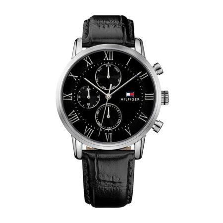 Ρολόι Ανδρικό Με Λουράκι Μαύρο Δερμάτινο Tommy Hilfiger Kane 1791401