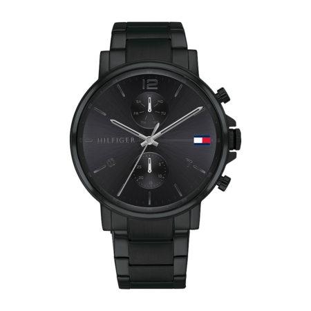 Ρολόι Tommy Hilfiger Daniel Black Με Μαύρο Μπρασελέ 1710414