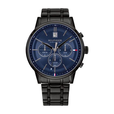 Ρολόι Tommy Hilfiger Kyle Dual Time Με Μαύρο Μπρασελέ 1791633