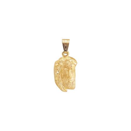 Μικρό Χρυσό Μενταγιόν Για Φυλαχτό Με Το Πρόσωπο Του Χριστού 14Κ GD124
